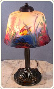 Keeling Lamps : Designers and Manufacturers of Decorative Lighting, Stained Glass and Custom Reverse Painted Lamps Since 1971 in Connecticut CT